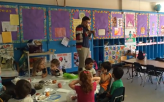 VIDEO: Shofar blowing at JCC preschool