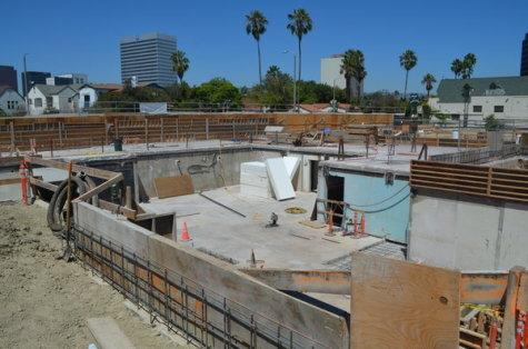 Foundation in place on Fairfax for new building