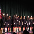 "SING: The girls of the Shalhevet choir perform at the ""Neima: Sing It Forward"" competition at YULA Girls High School April 26. They lost to YULA by three points."