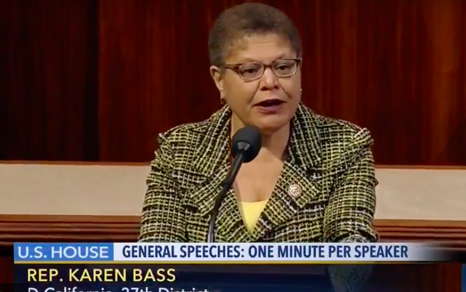 CONGRESS: U.S. Rep. Karen Bass, whose 37th Congressional District includes Shalhevet, spoke against President Trump's healthcare proposal on the floor of the House of Representatives March 24.