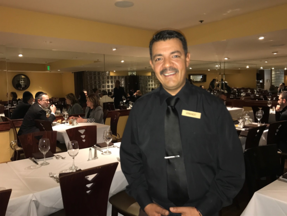 RELATIONSHIP: Armando Rodriguez, La Gondola employee of over a decade, has developed close connections with Hebrew-speaking customers.