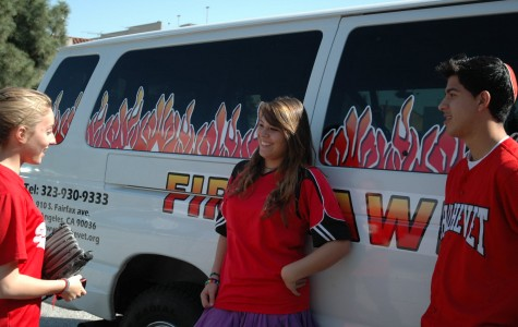 Newly decorated sports van sparks school pride