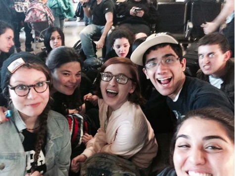 SMILES: After five days in Poland, the Class of 2014 landed at Ben Gurion airport in a different mood.