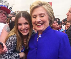 Layla Galeck with Hillary Clinton