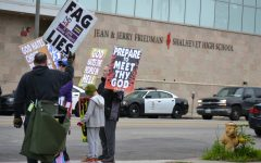 Westboro picketers wave signs, sing songs at school for 30 minutes